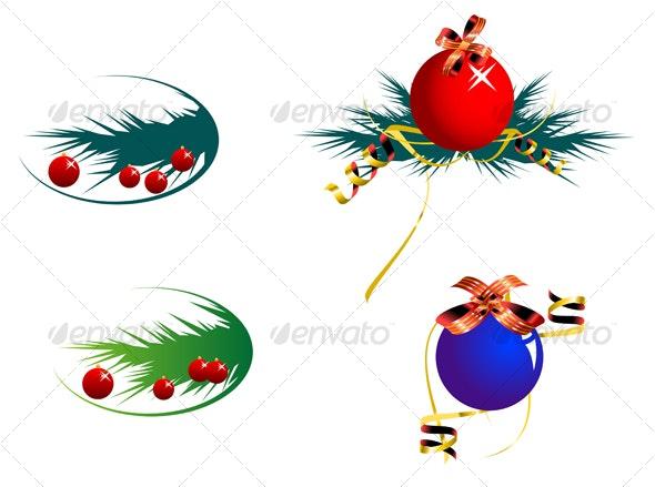 Set of color decoration balls - Seasons/Holidays Conceptual
