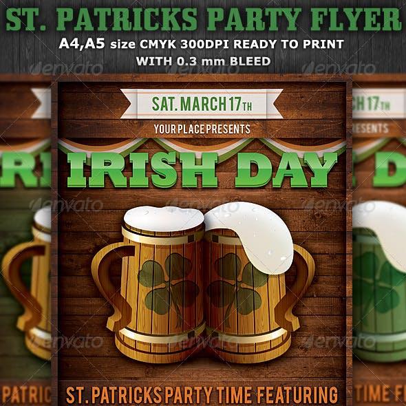 St. Patricks Party Flyer & Poster Template v4