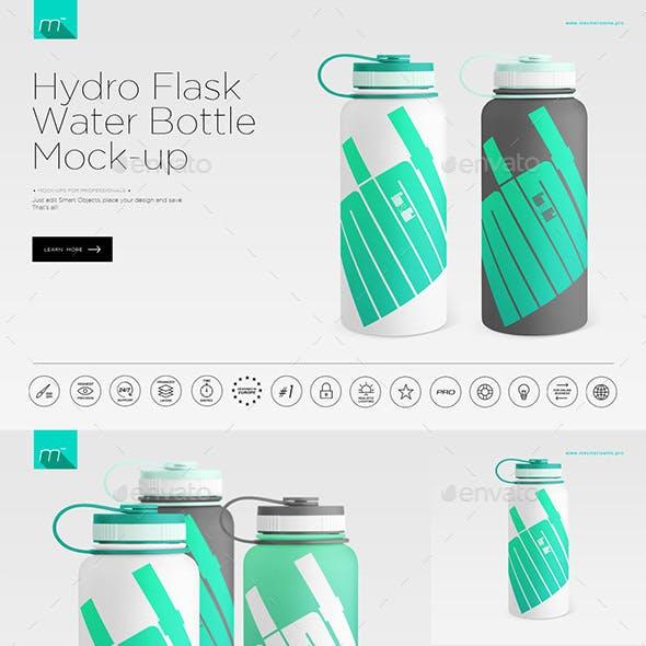 Hydro Flask Water Bottle Mock-up