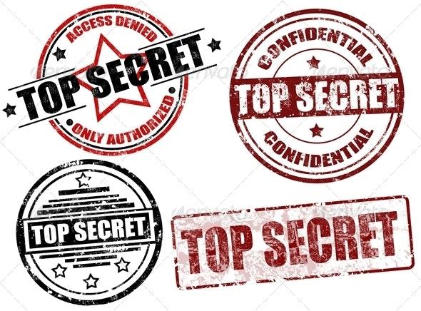 Top secret stamps - Concepts Business