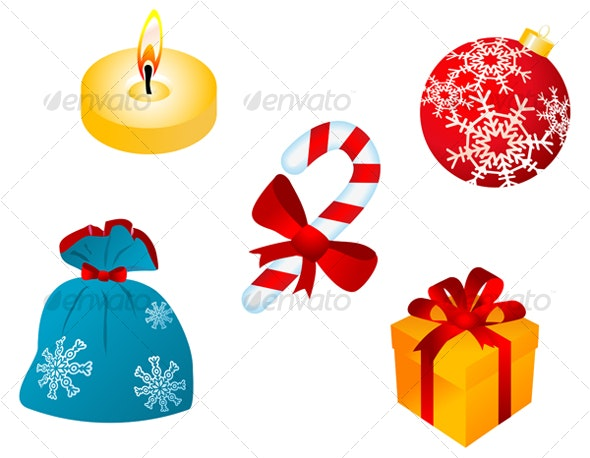 Christmas icons and symbols for design - Seasons/Holidays Conceptual