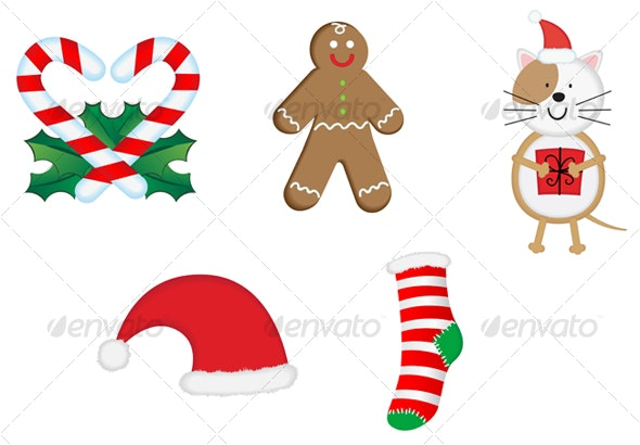 Christmas icons and symbols for design - Seasons/Holidays Conceptual