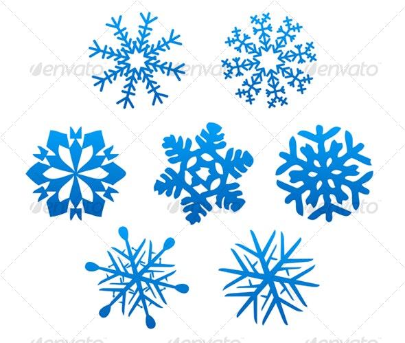 Set of snowflakes - Decorative Vectors