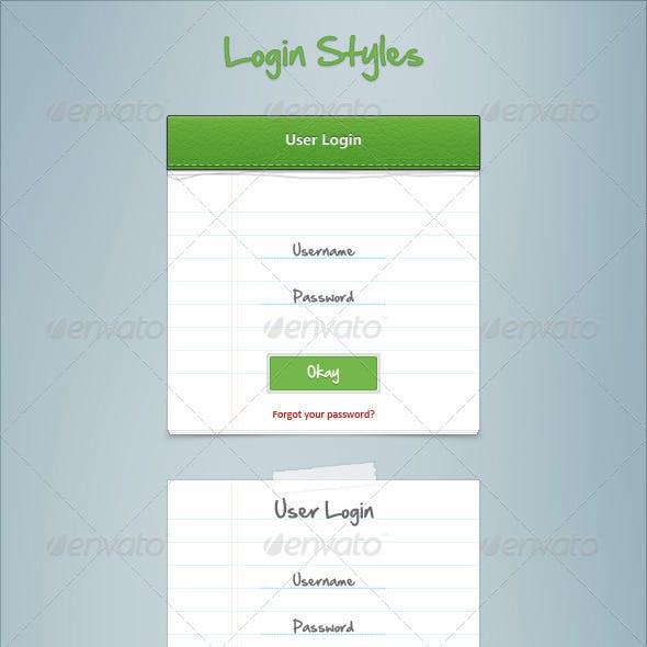 Login Styles
