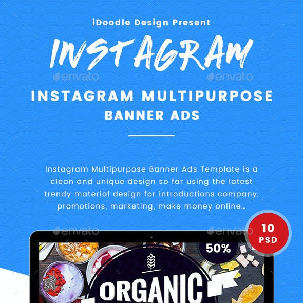 Instagram Banners Ad - 10 PSD