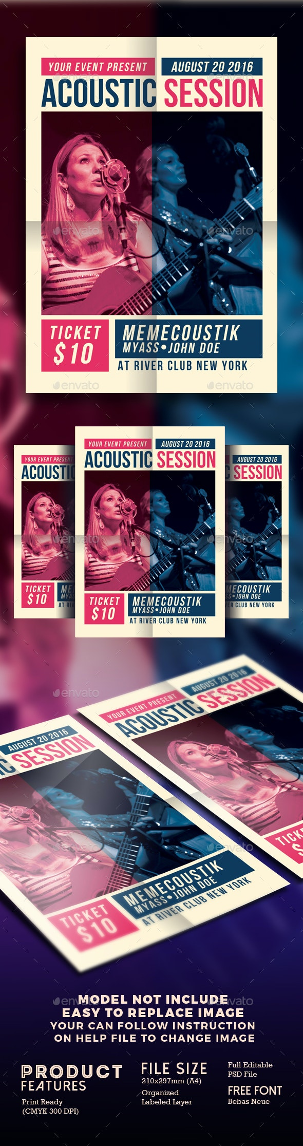Acoustic Session Flyer - Events Flyers