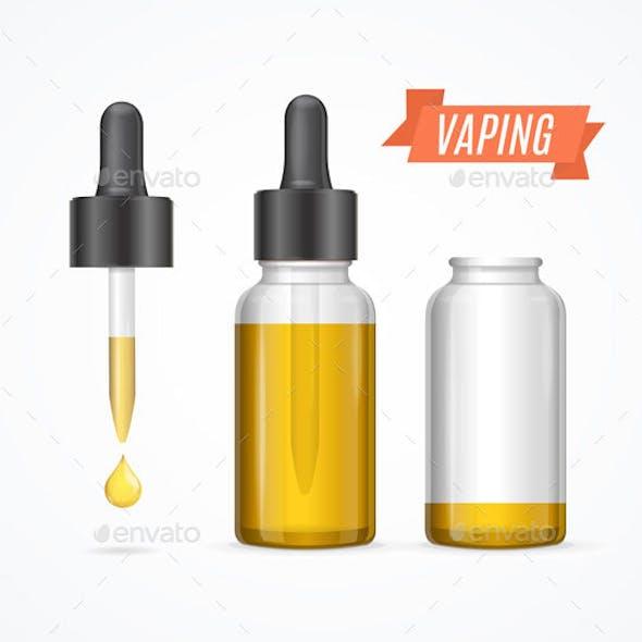 Vaping E-liquid Bottle, Vector