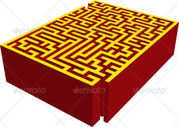 Maze - Buildings Objects
