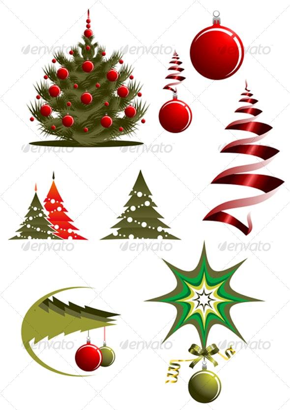 Christmas icons and symbols - Seasons/Holidays Conceptual