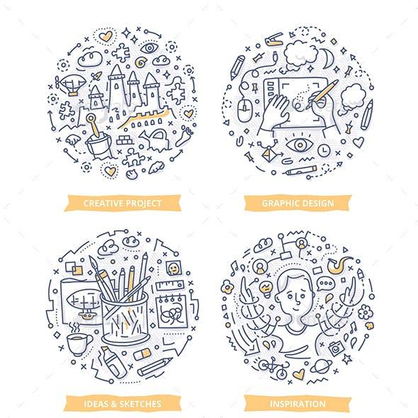 Creative Process Doodle Illustrations