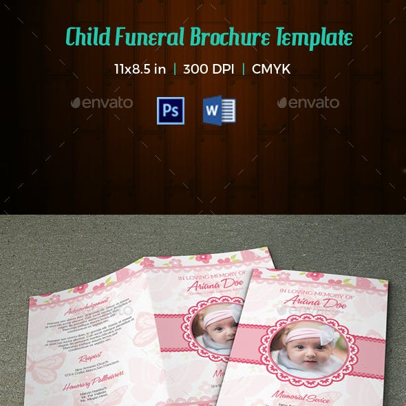 Child Funeral Program Template-V115