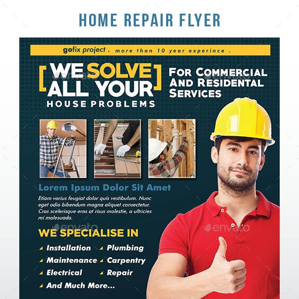 Home Repair Flyer Template