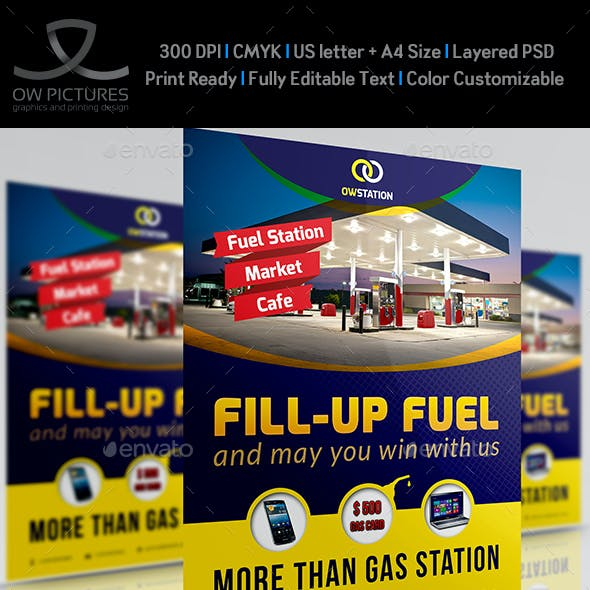 Gas Station Flyer Template