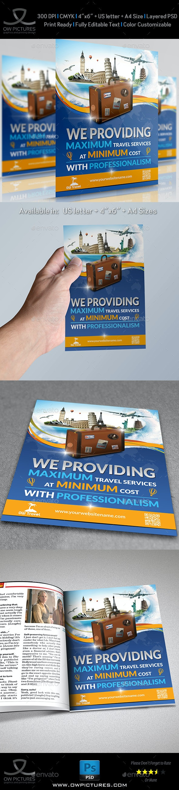 Travel Company Flyer Template - Holidays Events