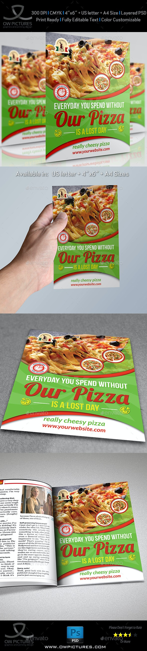 Pizza Restaurant Flyer Template - Restaurant Flyers