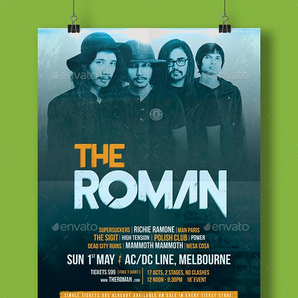 Rock Band Festival Flyer