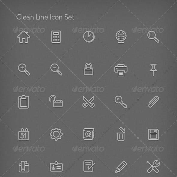 Clean Line Icon Set
