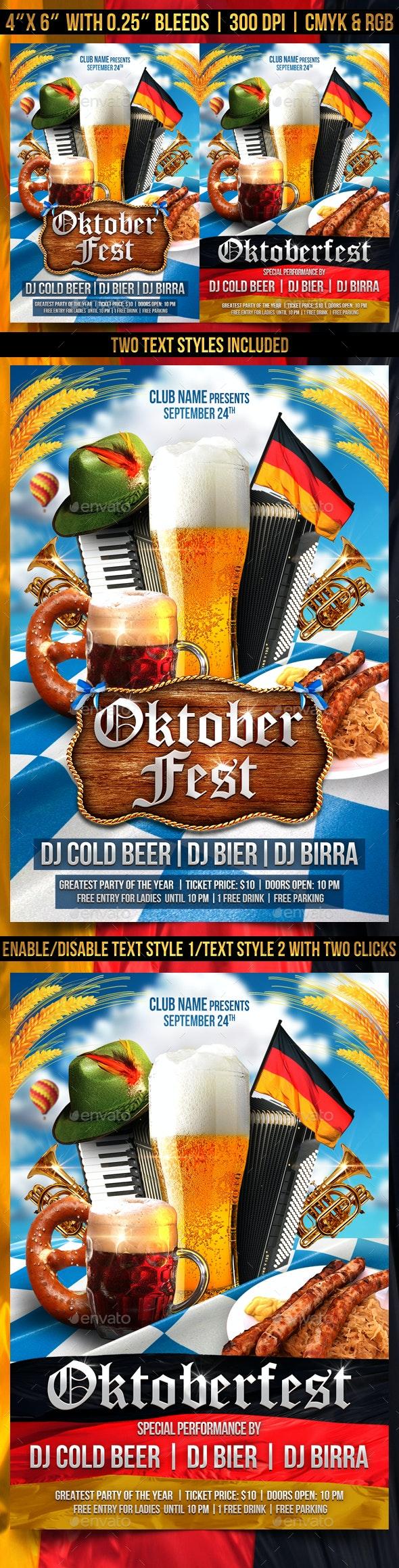 Oktoberfest Party Flyer - Clubs & Parties Events
