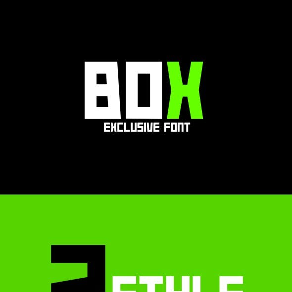 Box Typeface Font