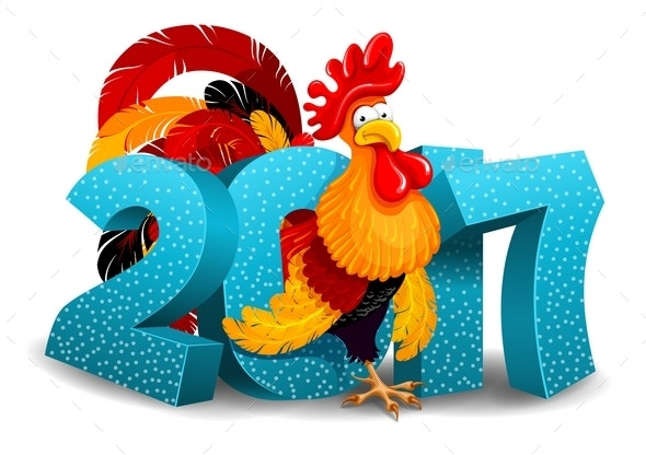Rooster and 2017 Figures - New Year Seasons/Holidays