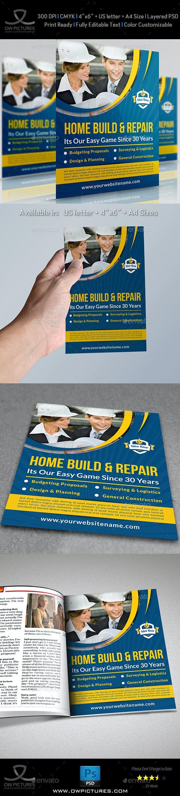 Construction Business Flyer Vol.3 - Corporate Flyers