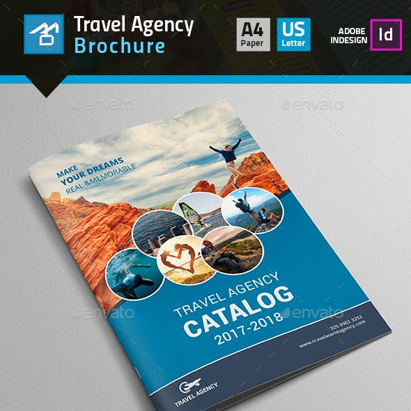 Travel Agency Brochure & Catalog Template