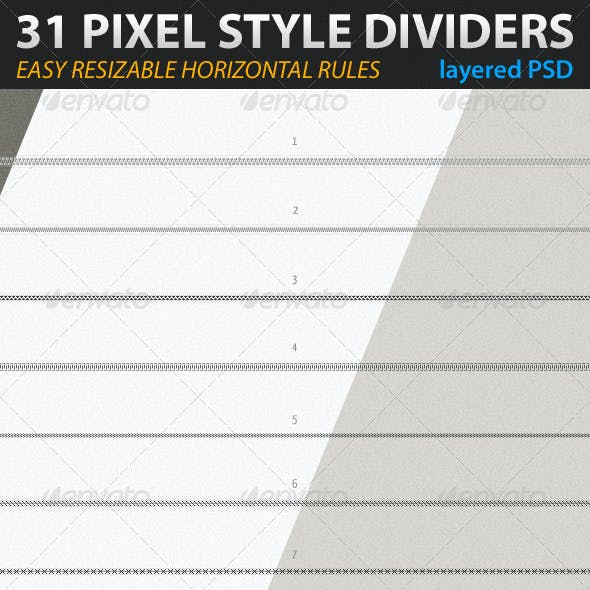 31 Pixel Style Dividers