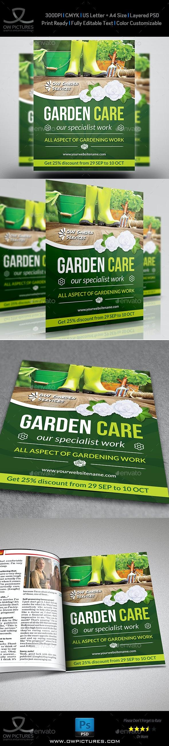 Garden Services Flyer Vol.2 - Commerce Flyers