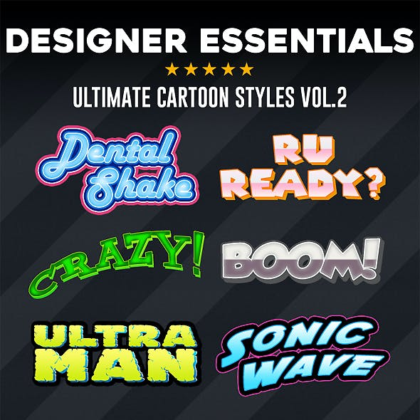 Designer Essentials Cartoon Styles Vol.2