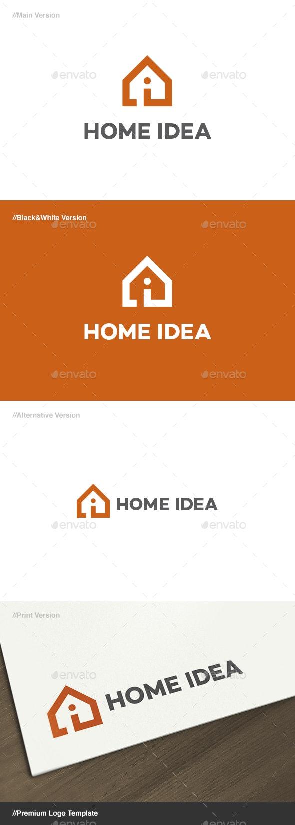 Home Idea Logo - Buildings Logo Templates