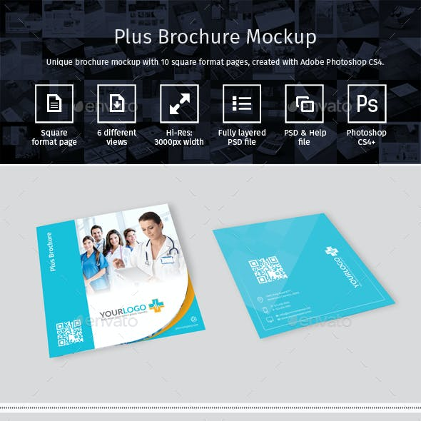 Plus Brochure Mockup