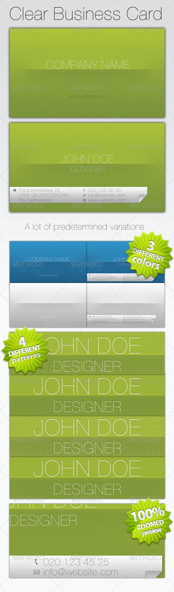 Clear Business Card - Corporate Business Cards