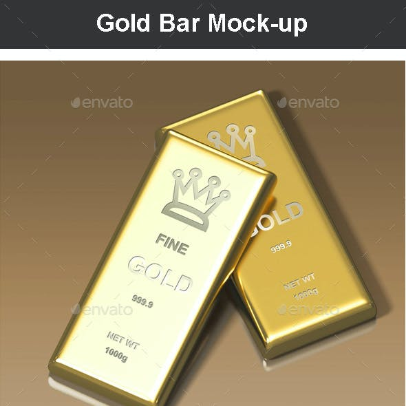 Gold Bar Mock-up