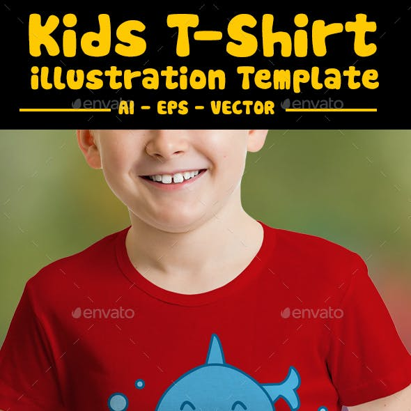 Shark Smile Kids T-Shirt Design