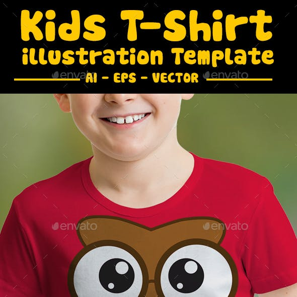 Owl Kids T-Shirt Design