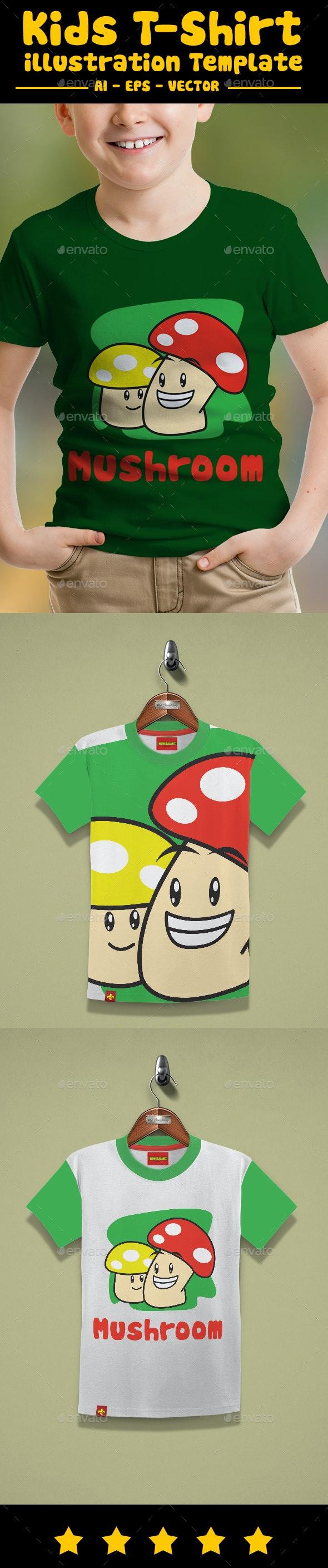 Mushroom Kids T-Shirt Design - T-Shirts