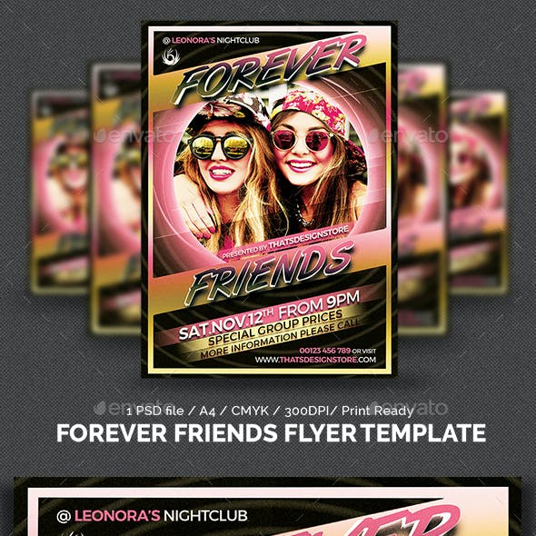 Forever Friends Flyer Template