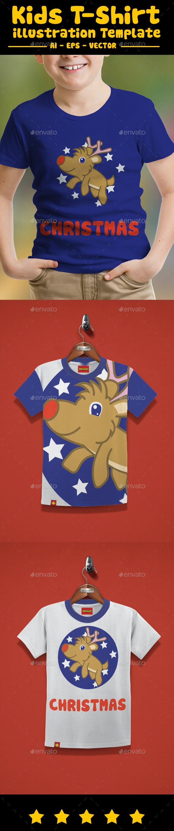 Christmas Kids T-Shirt Design - T-Shirts