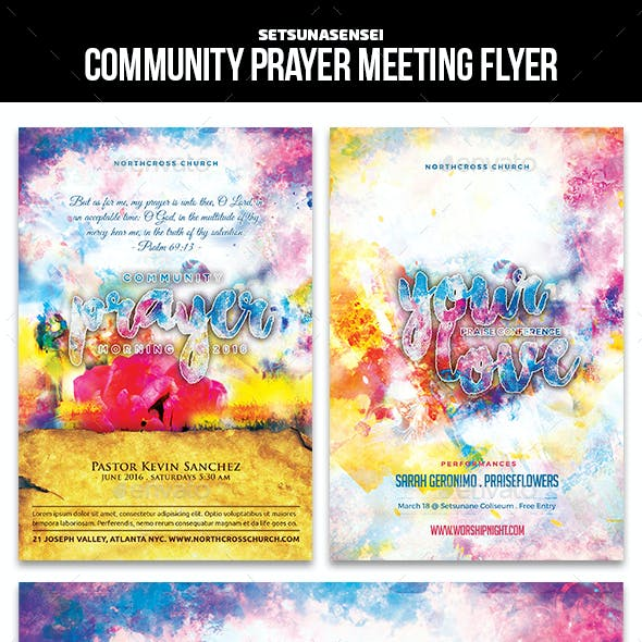 Community Prayer Meeting Flyer