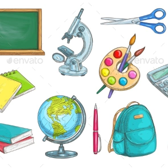 School And Education Isolated Objects