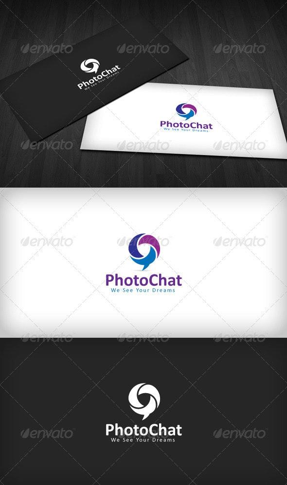 Photo Chat Logo - Vector Abstract
