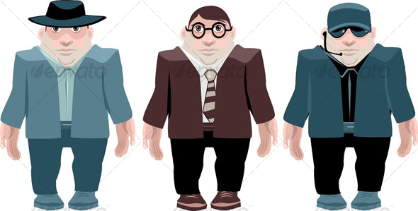 male toon character - Characters Vectors