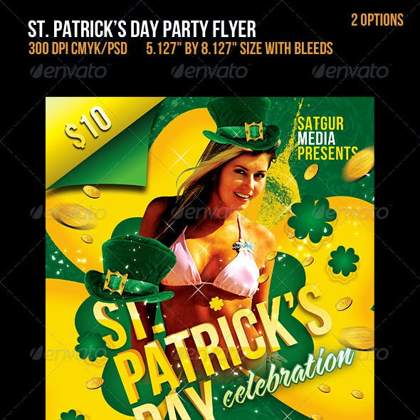 St. Patricks Day Music Party Flyer
