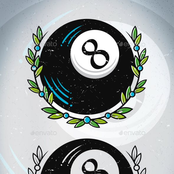 8 Ball Tattoo Vector