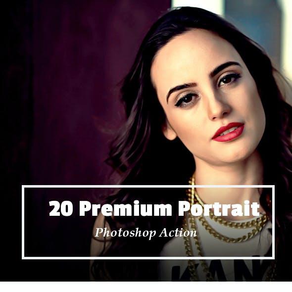 20 Premium Portrait Photoshop Action