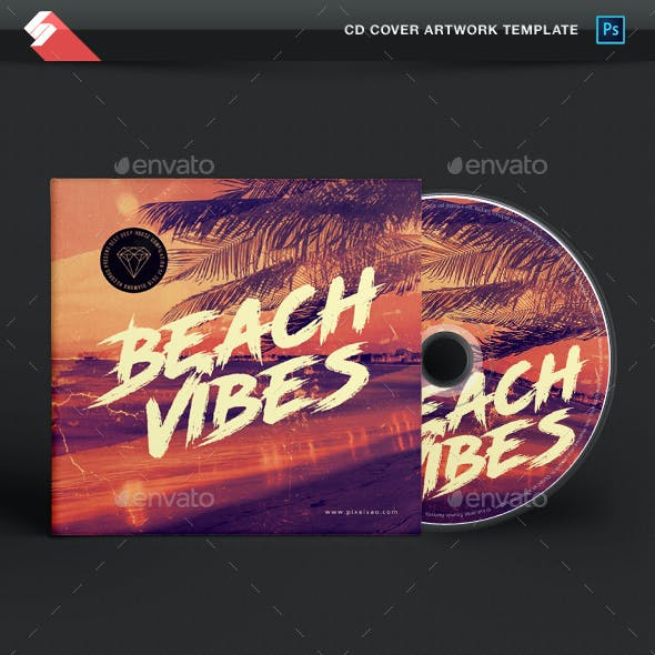 Beach Vibes - House Music CD Cover Template