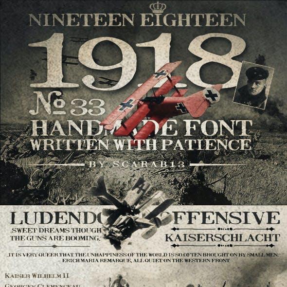 Handmade Font NineteenEighteen 1918