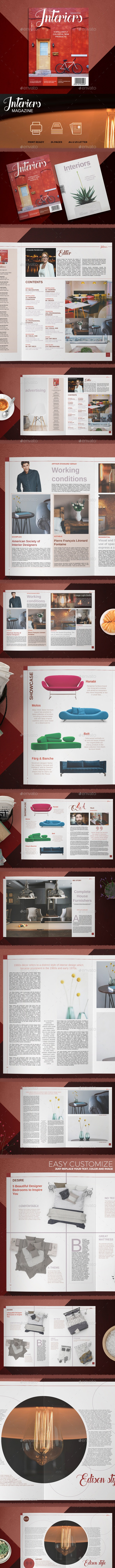Interiors magazine  - Magazines Print Templates