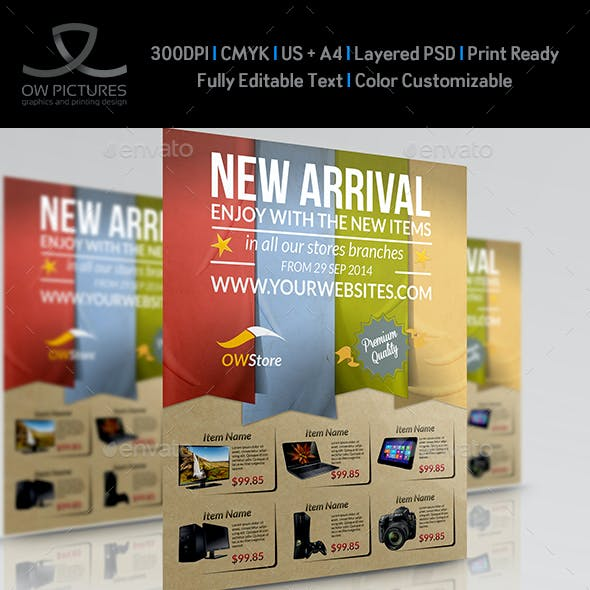 New Arrival Products Flyer Template