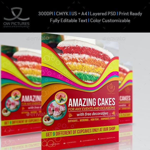 Cake Flyer Template Vol.4